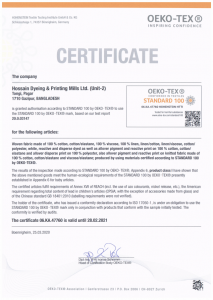 OekoTex-CertificateWovenFabric