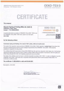 OekoTex-CertificateYarnDyeing